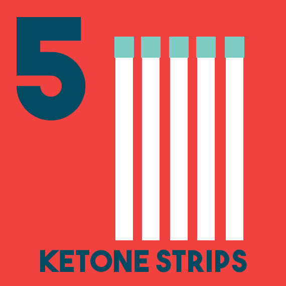 12 days of diabetes christmas - day 5 - five ketone strips - diabetic christmas