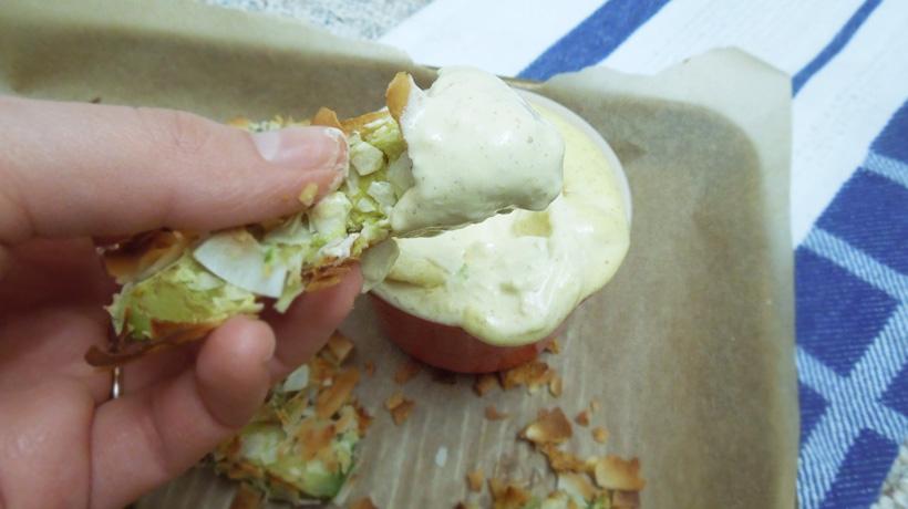 Coconut Crusted Avocado Bites Mayo