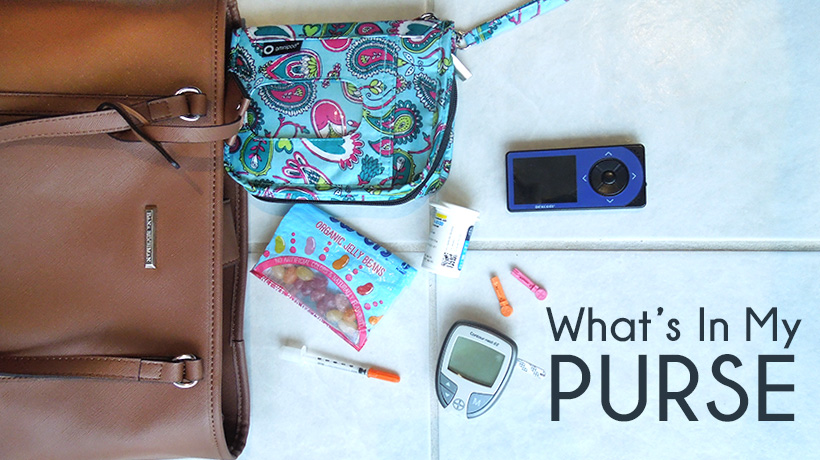 4ef0b3b1a79db0 What's In My Purse - Living with Type 1 Diabetes - T1D Living Blog