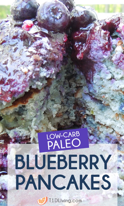 Keto Low Carb and Paleo Blueberry Pancakes Pinterest
