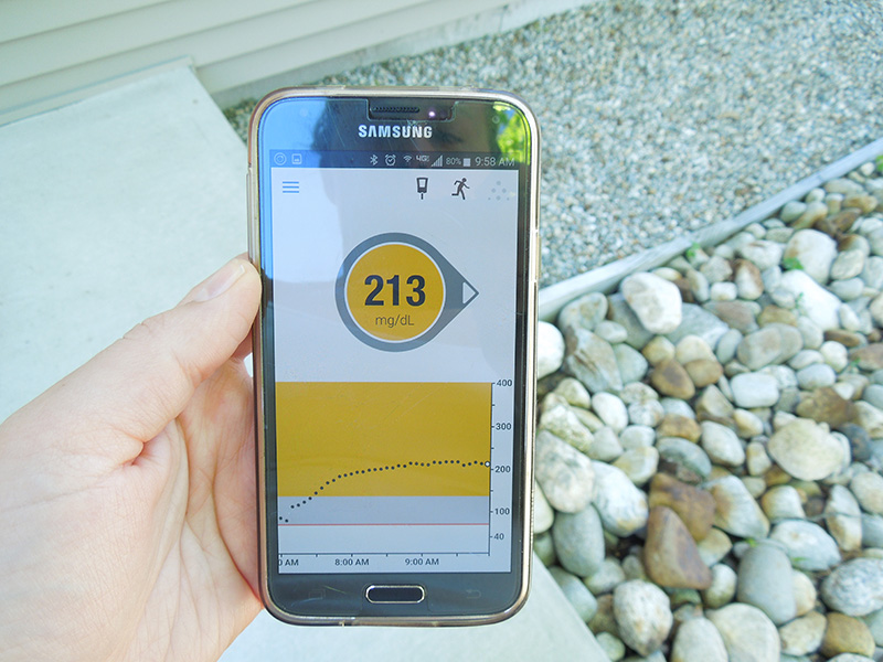 Dexcom G5 Mobile App for Android Reading