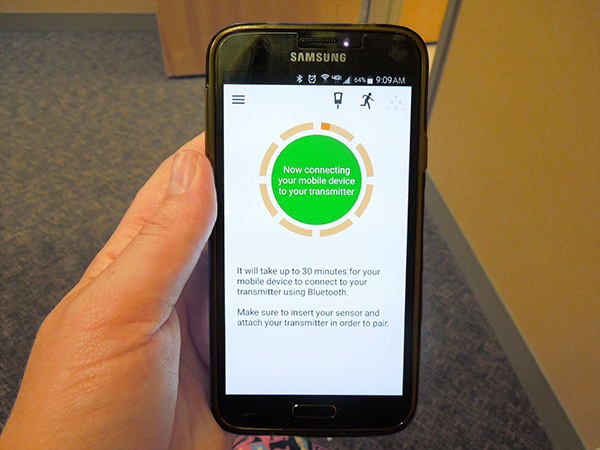 Dexcom G5 Mobile App for Android Warm Up