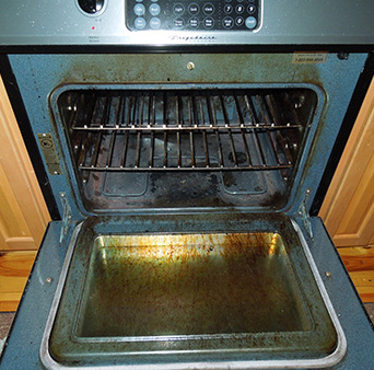 Natural Oven Cleaner Recipe Before