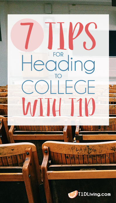 Tips for Heading to College with T1D Pinterest