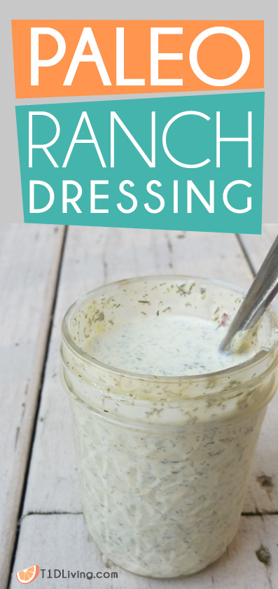 Paleo Ranch Dressing Recipe Pinterest