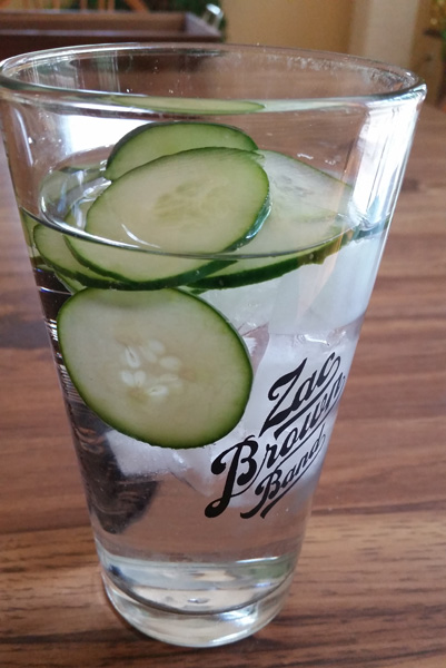 Low Sugar Drink Ideas water with cucumbers