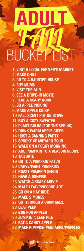 fall bucket list t1d living pinterest