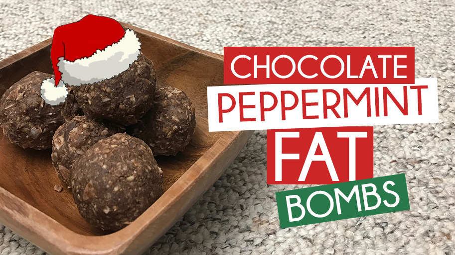 Paleo Chocolate Peppermint Fat Bombs