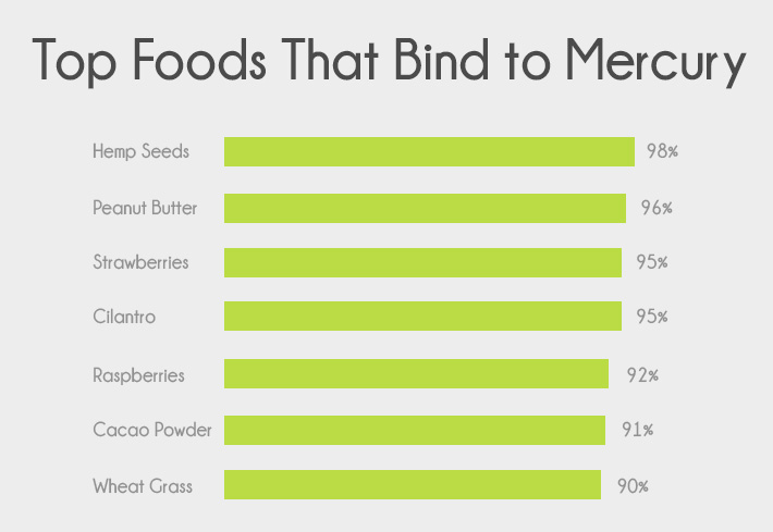 Top Foods That Bind To Mercury Chart