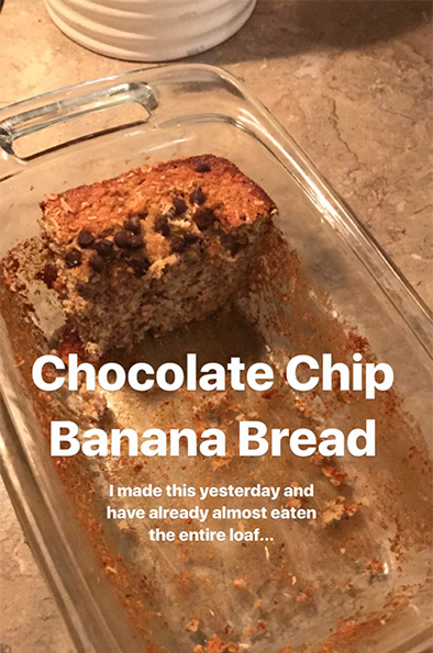 instagram stories banana bread