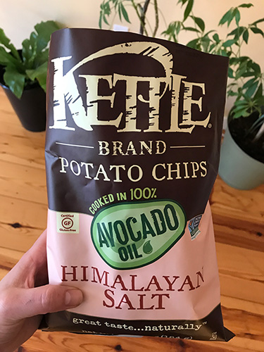 avocado oil pink salt chips