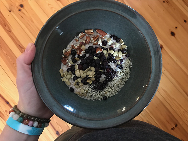 blueberry chia oatmeal