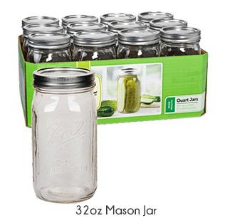 zero waste 32oz mason
