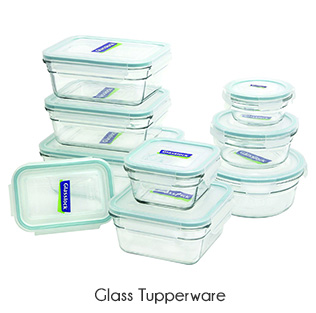 zero waste glass tupperware