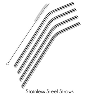 zero waste stainless steel straws