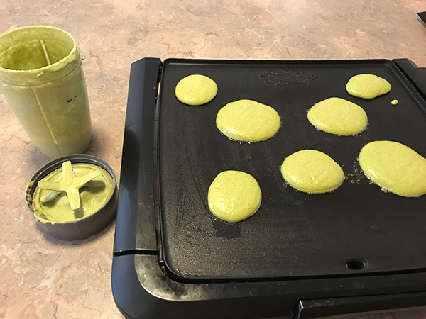 spinach pancakes griddle