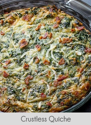 low carb breakfast ideas crustless quiche