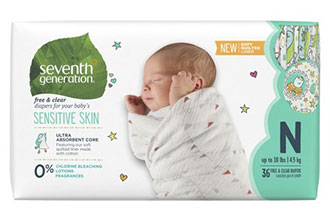 Newborn Essentials Seventh Generation Baby Diapers