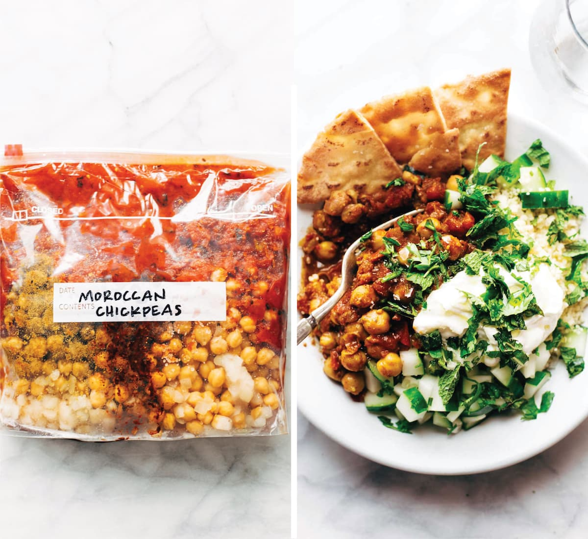 Freezer Meal Moroccan Chickpeas Image