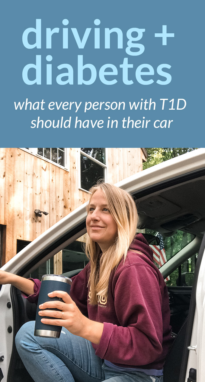 diabetes and driving what everyone with t1d should have in their car. t1d driver safety